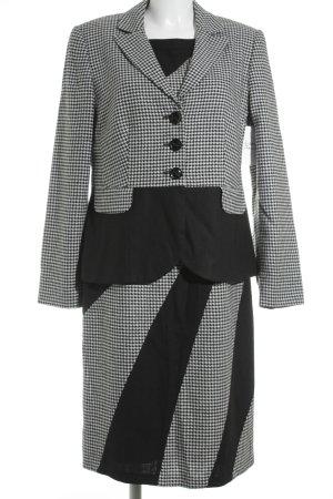 Betty Barclay Kostüm schwarz-wollweiß Hahnentrittmuster Brit-Look