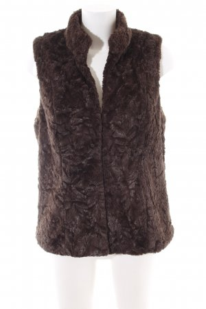 Betty Barclay Fake Fur Vest brown casual look