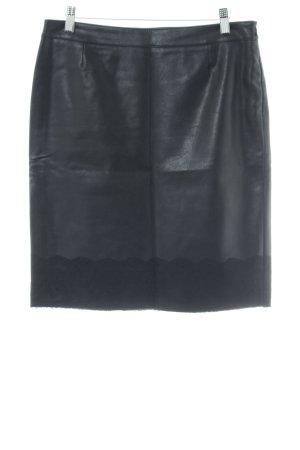 Betty Barclay Kunstlederrock schwarz klassischer Stil