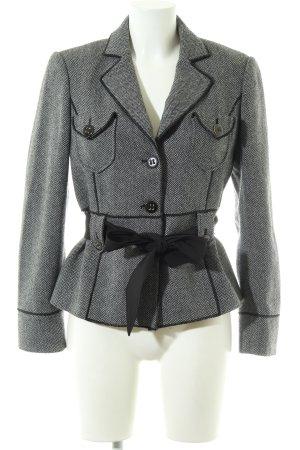 Betty Barclay Kurz-Blazer weiß-schwarz Streifenmuster Casual-Look