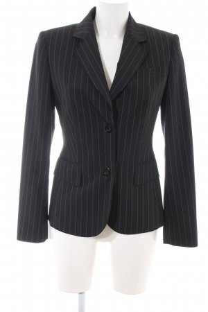 Betty Barclay Kurz-Blazer schwarz-hellgrau Streifenmuster Business-Look