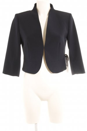 Betty Barclay Kurz-Blazer dunkelblau Webmuster Casual-Look