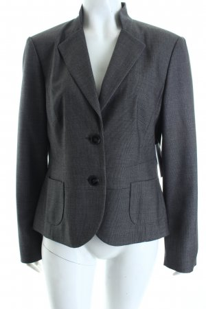 Betty Barclay Kurz-Blazer grau-schwarz Webmuster Business-Look