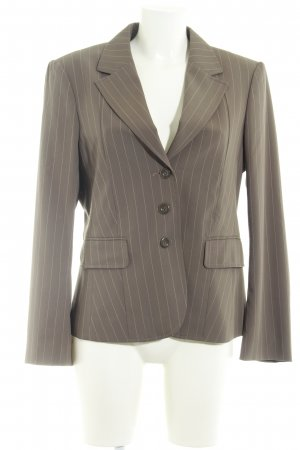 Betty Barclay Kurz-Blazer graubraun Streifenmuster Business-Look