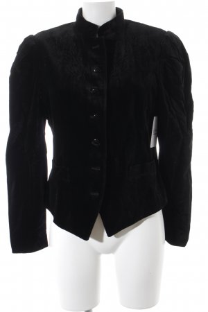 Betty Barclay Kurz-Blazer schwarz Samt-Optik