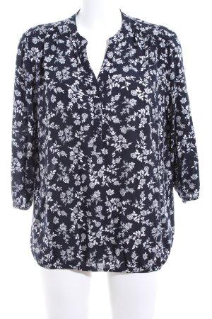 Betty Barclay Kurzarm-Bluse schwarz-weiß Allover-Druck Casual-Look