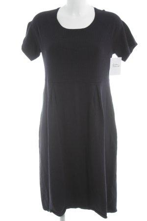 Betty Barclay Vestido de manga corta azul oscuro estilo clásico