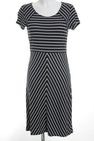 Betty Barclay Vestido de manga corta azul oscuro-blanco estampado a rayas