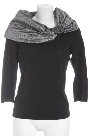 Betty Barclay Sweater met korte mouwen zwart-grijs wetlook