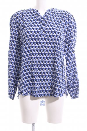 Betty Barclay Langarm-Bluse blau-weiß Allover-Druck Casual-Look