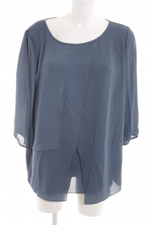Betty Barclay Langarm-Bluse graublau Lagen-Look