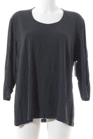 Betty Barclay Langarm-Bluse schwarz-weiß Punktemuster Business-Look