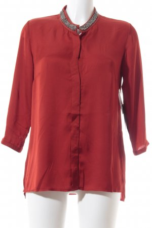 Betty Barclay Langarm-Bluse silberfarben-rot Business-Look
