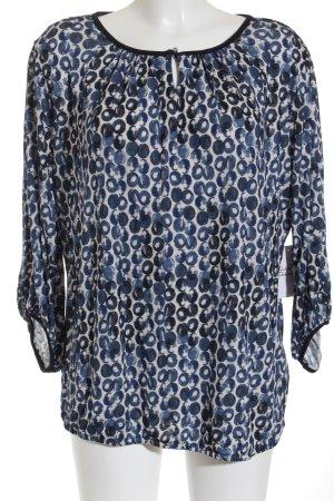 Betty Barclay Langarm-Bluse weiß-blau Punktemuster Casual-Look