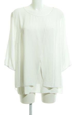 Betty Barclay Blusa de manga larga blanco elegante