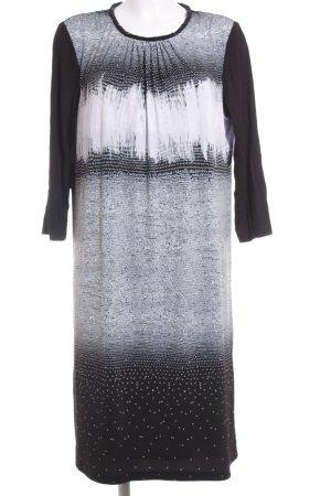 Betty Barclay Langarmkleid schwarz-weiß abstraktes Muster Elegant