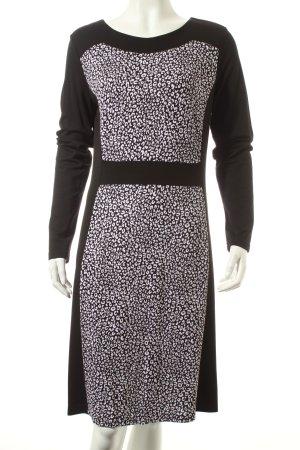 Betty Barclay Langarmkleid schwarz-weiß Animalmuster Elegant