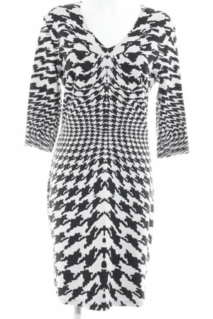 Betty Barclay Longsleeve Dress black-white houndstooth pattern business style