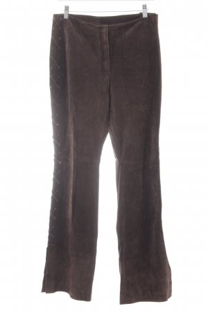 Betty Barclay Pantalón de cuero marrón-negro estilo country