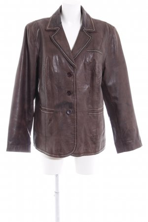 Betty Barclay Lederjacke braun Casual-Look