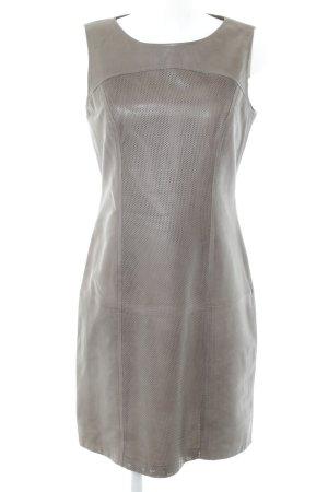 Betty Barclay Lederkleid bronzefarben Allover-Druck Vintage-Look