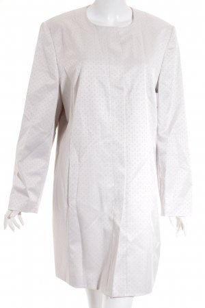 Betty Barclay Long-Blazer hellgrau-weiß Punktemuster Elegant