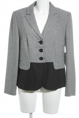 Betty Barclay Long-Blazer schwarz-weiß Karomuster Casual-Look