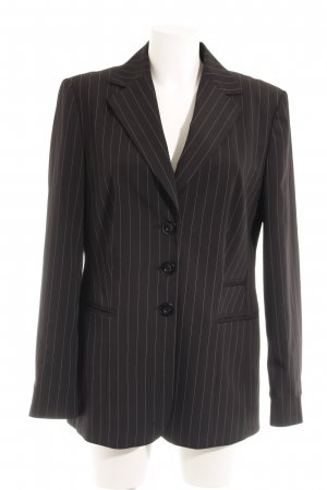 Betty Barclay Long-Blazer schwarz-weiß Nadelstreifen Business-Look