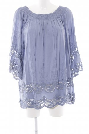 Betty Barclay Blouse longue gris violet style Boho