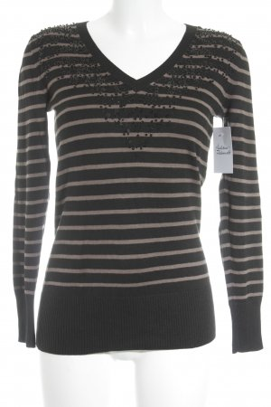 Betty Barclay Camisa larga negro-marrón claro estampado a rayas estilo clásico