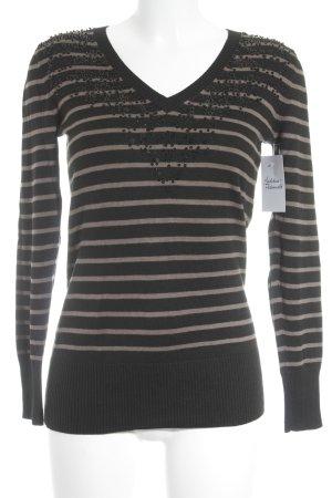 Betty Barclay Longshirt schwarz-hellbraun Streifenmuster klassischer Stil