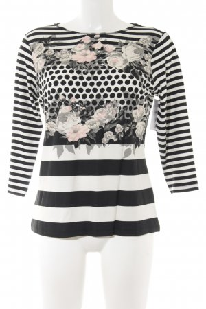 Betty Barclay Longsleeve creme-schwarz florales Muster Street-Fashion-Look