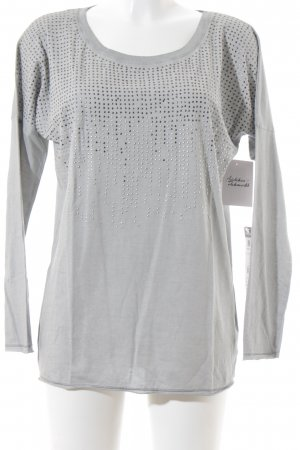 Betty Barclay Longsleeve grau-silberfarben Casual-Look