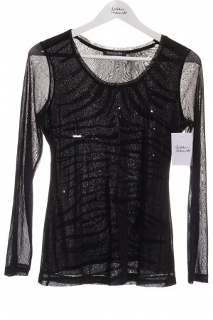 Betty Barclay Longsleeve schwarz abstraktes Muster Glitzer-Optik