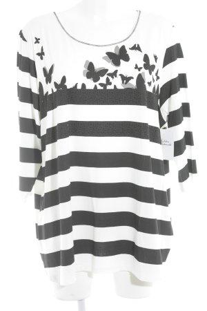Betty Barclay Longsleeve schwarz-wollweiß Mustermix Street-Fashion-Look