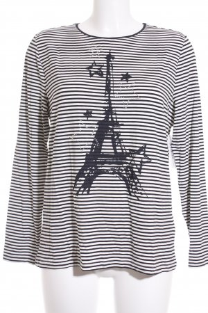 Betty Barclay Longsleeve weiß-dunkelblau Streifenmuster Casual-Look