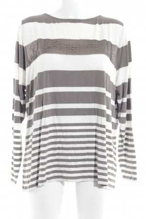 Betty Barclay Longsleeve wollweiß-taupe Streifenmuster Casual-Look