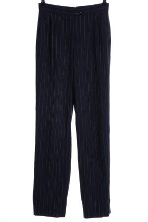Betty Barclay Pantalone Marlene blu scuro-azzurro gessato stile professionale