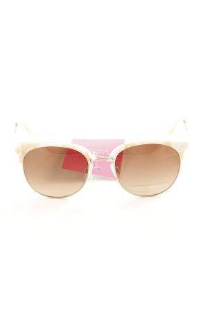 Betty Barclay Gafas de sol ovaladas crema-beige estilo minimalista