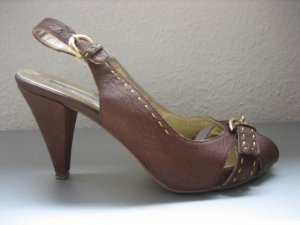 betty barclay peep toes pumps braun 38 leder buero