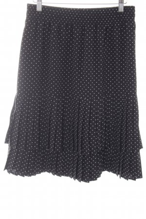 Betty Barclay Falda plisada negro-blanco estampado a lunares elegante