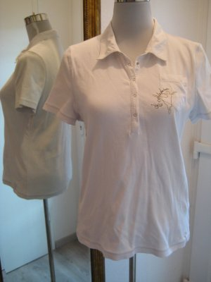 Betty Barclay Polo Shirt weiss Gold Gr 40/42