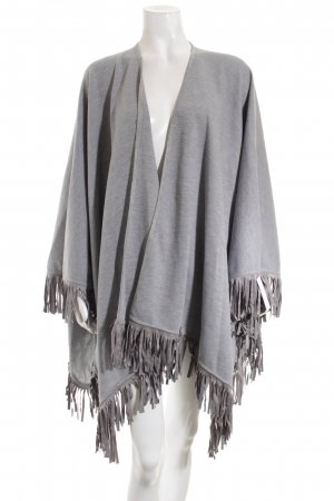 Betty Barclay Poncho hellgrau Boho-Look