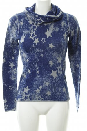 Betty Barclay Turtleneck Sweater blue-light grey star pattern casual look