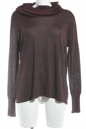 Betty Barclay Jersey de cuello alto burdeos look casual