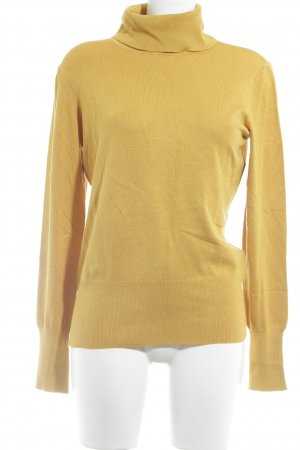 Betty Barclay Jersey de cuello alto amarillo oscuro look casual