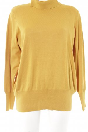 Betty Barclay Pull-over à col roulé jaune foncé style simple