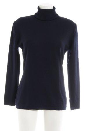 Betty Barclay Turtleneck Shirt dark blue boyfriend style