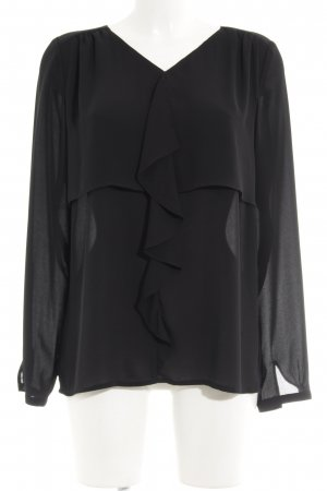 Betty Barclay Blouse à volants noir élégant