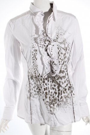 Betty Barclay Rüschen-Bluse weiß-silberfarben Animalmuster Elegant